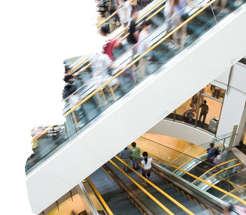 People in motion in escalators at the modern shopping mall.; Shutterstock ID 107374190; Departmental Cost Code: redownload; Project Code: redownload; PO Number: redownload; Other: redownload