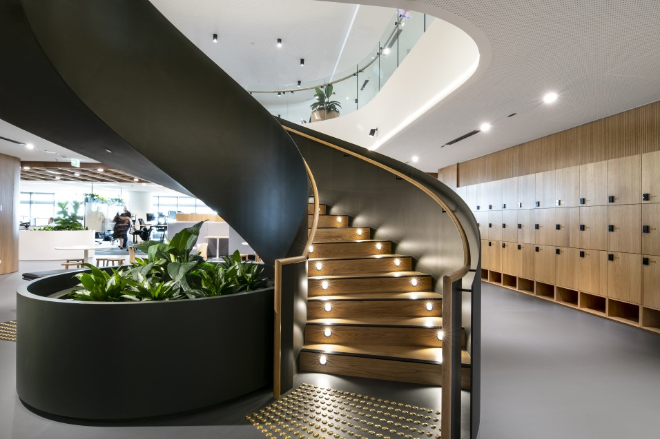 Staircase in workplace