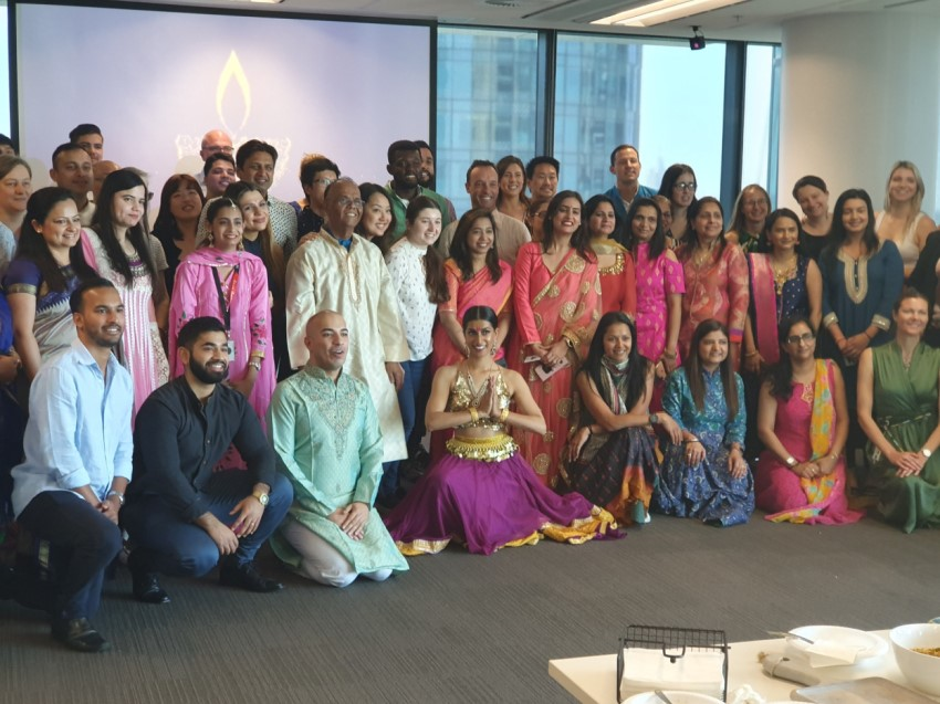 Diwali celebration in Sydney, acknowledging and celebrating the Hindu culture in our office.