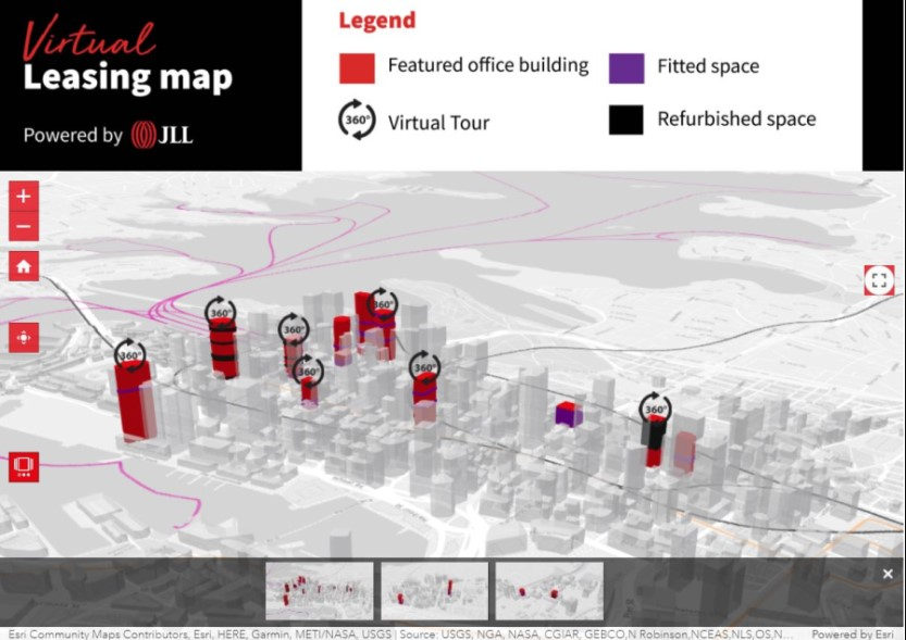 About JLL's Virtual Leasing Map